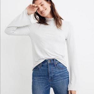 nwt // madewell ruffle edge turtleneck top